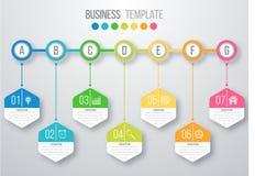 Шаблон infographics срока Стоковые Фотографии RF