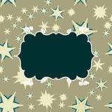 Шаблон Scrapbooking ретро с местом для текста для приглашения, приветствия, с днем рождения ярлыка, рамки открытки, младенца или Стоковые Фото