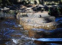 шагая камни Стоковое Фото