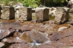 шагая камни Стоковые Фото
