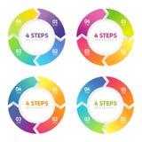4 шага Infographics, успех в бизнесе Стоковое Фото