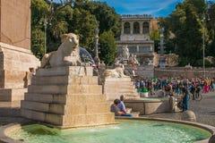 Шаги водят от аркады del Popolo к Pincio к востоку, Рима Стоковая Фотография