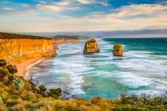 Шаги Гибсона и 12 апостолов, Австралия Стоковое фото RF