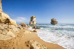 Шаги Гибсона и 12 апостолов, большая дорога океана, Виктория Стоковые Изображения