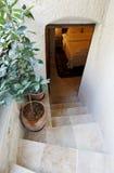 шаги двери спальни подвала открытые к Стоковые Изображения
