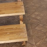 шаги Деревянная лестница шагает деревянно стоковая фотография rf
