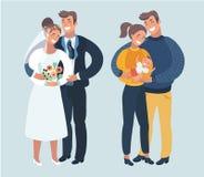 Шаги или этапы счастливой семейной жизни Стоковая Фотография