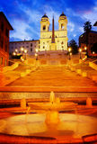 шаги испанского языка Италии rome Стоковая Фотография RF