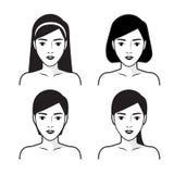 Шаги как к лицевой заботе r иллюстрация вектора