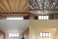 Шаги конструкции крыши стоковая фотография rf