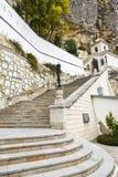Шаги к монастырю пещер, Крыму предположения Стоковые Фото