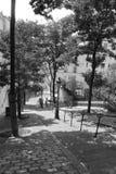 Шаги к Montmartre Парижу, черно-белому стоковое фото rf