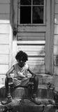 шаги мальчика сидя Стоковое Изображение