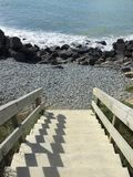 Шаги моря стоковое фото rf