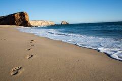 Шаги на пляже Стоковое Изображение
