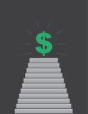 Шаги до знака доллара Стоковое Изображение