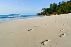 шаги пляжа Стоковое Фото