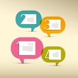 Шаги прогресса для консультации, Infographics Стоковые Изображения