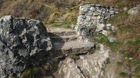 Шаги старой каменной лестницы старые стоковое фото rf