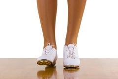шаги фронта танцульки clog выстукивают верхнюю часть Стоковые Изображения RF