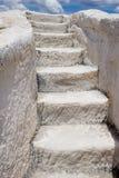 шаги 1 белые Стоковая Фотография RF