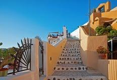 Шаги, Fira, Santorini, Греция Стоковое Изображение RF