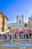 шаги rome monti Италии dei церков испанские покрывают trinit Стоковое Фото