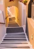шаги santorini Греции стоковое фото rf