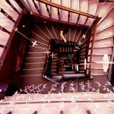 100 шагов - вниз Стоковое Изображение