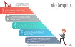 Шаг абстрактной информации графический работая шаблона Вариант шага дела или план потока операций бесплатная иллюстрация