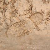 Шаг ботинка выведенный в песок Стоковое Изображение RF