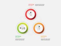 Шаг бумаги круга Информаци-графика вектора Стоковое Фото