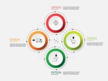 Шаг бумаги круга Информаци-графика вектора Стоковые Фото