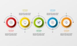 Шаг бумаги круга Информаци-графика вектора Стоковое Изображение RF