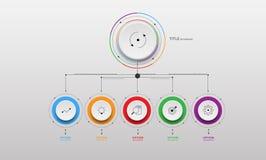 Шаг бумаги круга Информаци-графика вектора Стоковые Фотографии RF