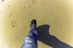 Шаг вперед на пляже Стоковая Фотография RF