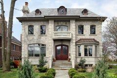 шаг входа домашний роскошный вверх стоковое изображение rf