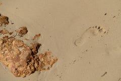 шаг в песке Стоковое Изображение RF