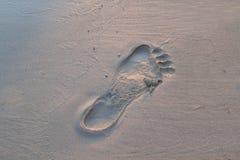 Шаг в песок Стоковое Изображение