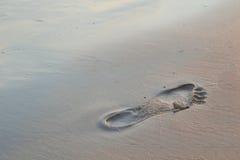 Шаг в песок Стоковые Фото