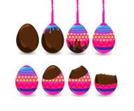 Шаг делать пасхальное яйцо Стоковое Фото