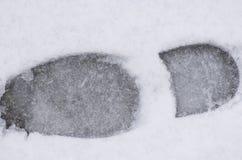 Шаг ноги в снег Стоковое фото RF
