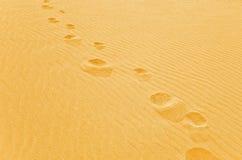 Шаг ноги на песок Стоковое Фото