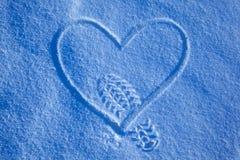 шаг снежка сердца Стоковые Изображения
