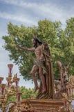 Шаг тайны братства воскресения, святой недели в Севилье Стоковое фото RF