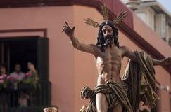 Шаг тайны братства воскресения, святой недели в Севилье Стоковые Фотографии RF