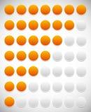 Шаг, уровень, индикатор прогресса с 7 блоками бесплатная иллюстрация