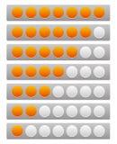 Шаг, уровень, индикатор прогресса с 7 блоками иллюстрация штока