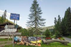 Шаг de Morgins в горах Альпов, Швейцария Стоковая Фотография RF