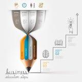 Шаг Infographics коммерческого образования. Стоковые Изображения